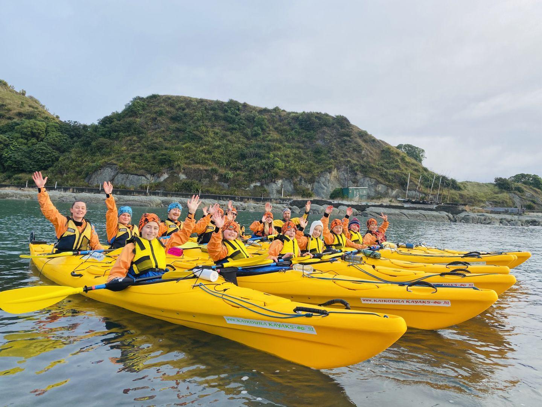 School camp kayaking Kaikoura